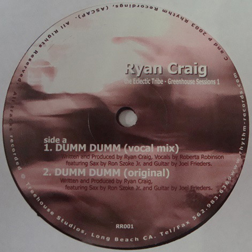 Ryan Craig - The Eclectic Tribe - Greenhouse Sessions 1 (12'' vinyl)