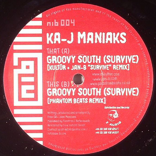 Ka-J Maniaks - Groovy South (Survive) (12'' vinyl)