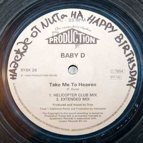 Baby D - Take Me To Heaven (12'' vinyl)